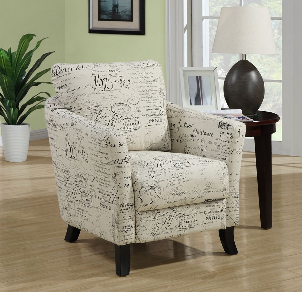 Image of: Model of Patterned Accent Chairs