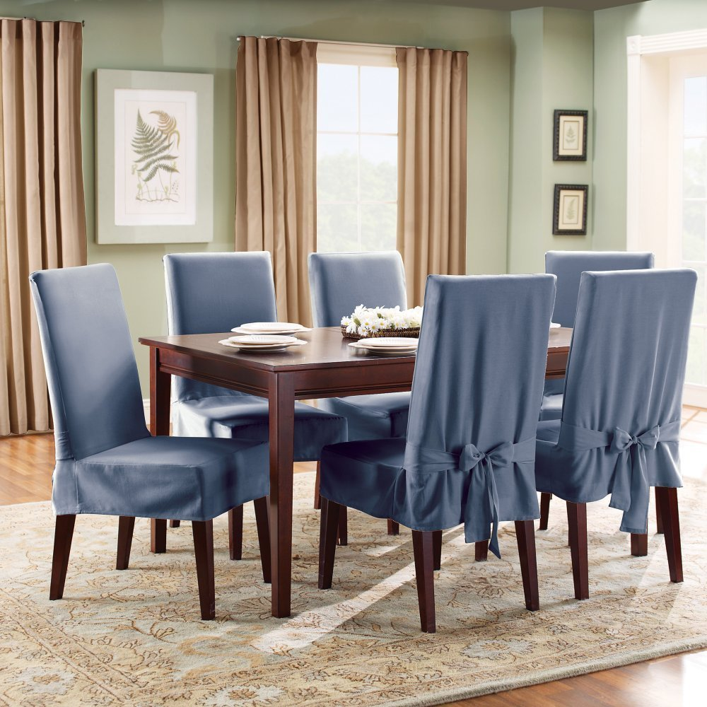 Image of: Modern Dining Chair Cushions with Ties