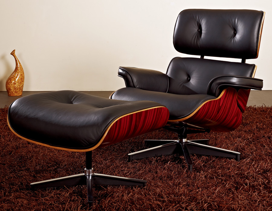 Image of: Modern Eames Lounge Chair and Ottoman