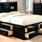 Modern King Bed With Storage Drawers