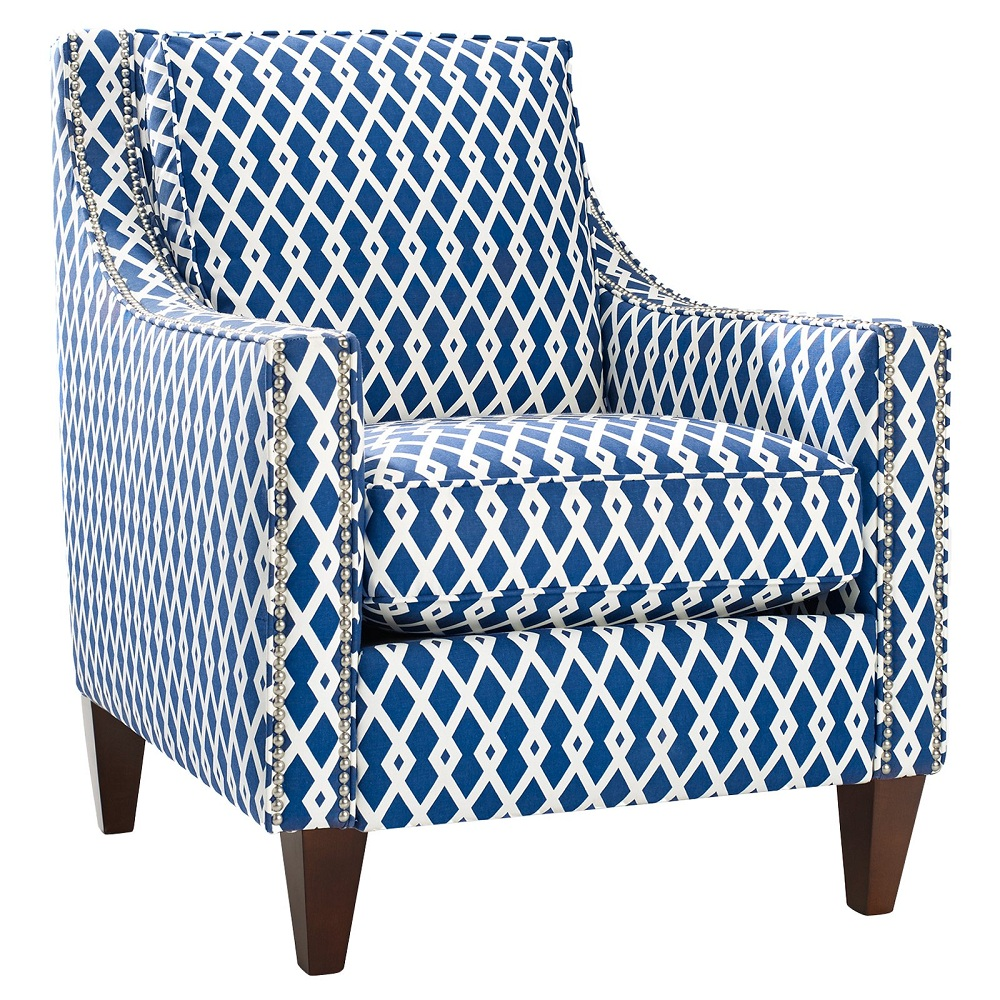 Image of: Modern Navy Blue Accent Chair