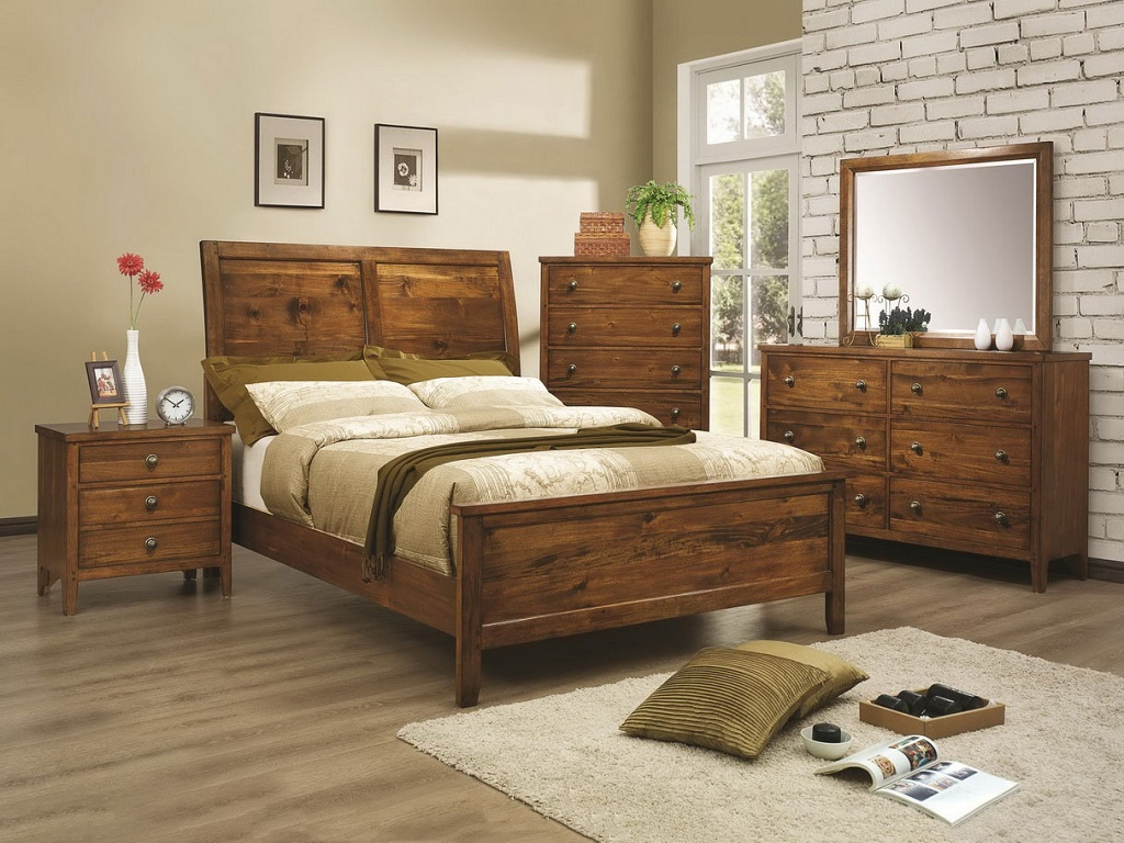 Image of: Modern Rustic Bedroom Design