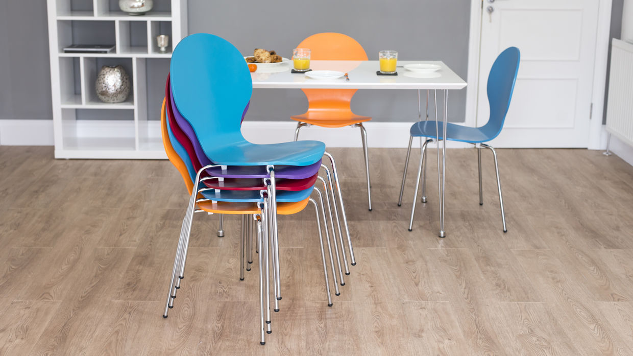 Image of: Modern Stackable Dining Chairs
