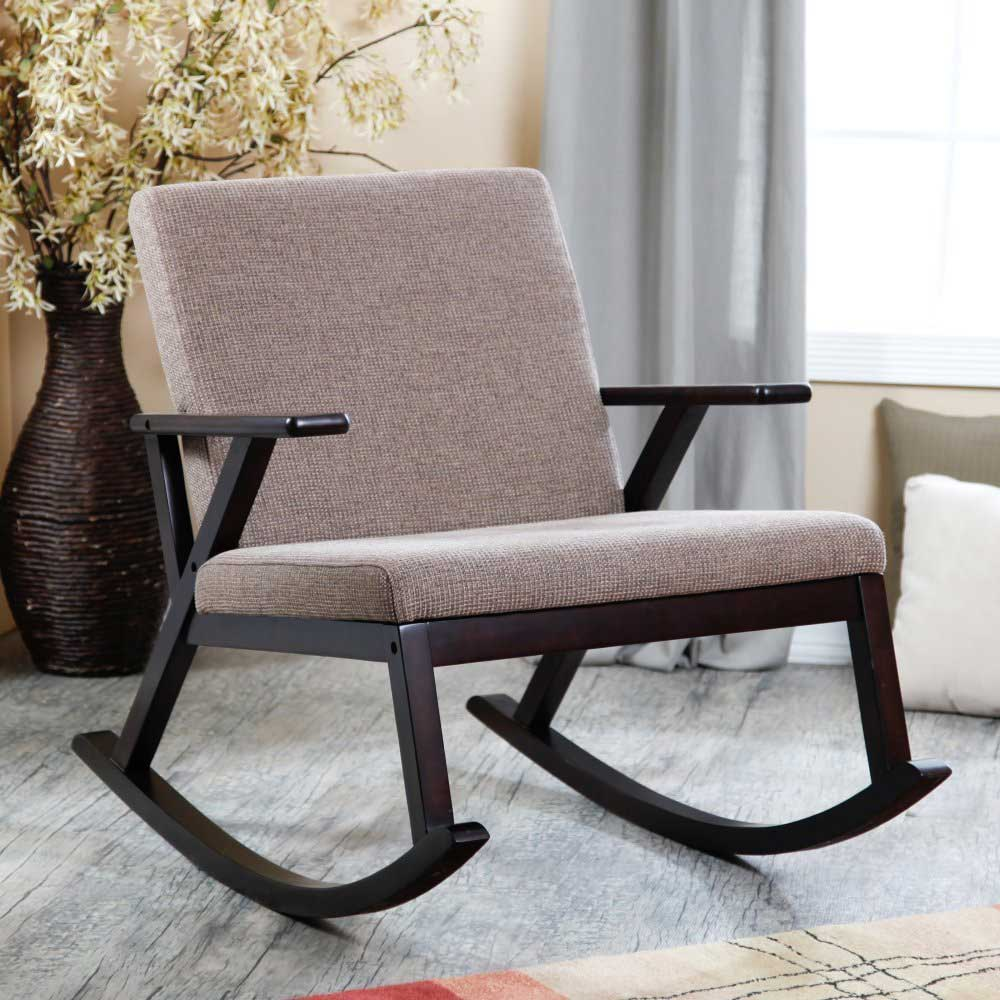 Image of: Modern Upholstered Rocking Chairs