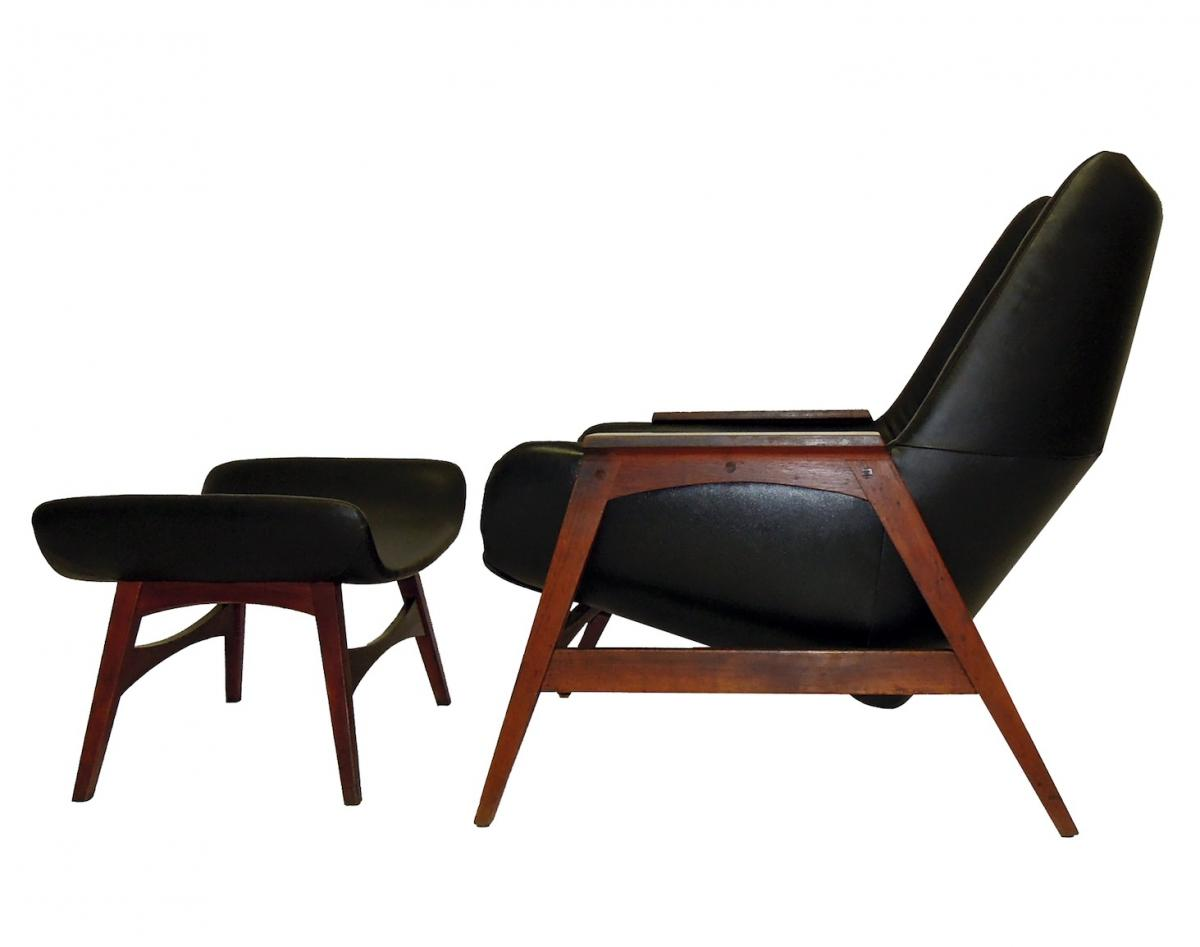 Image of: New Mid Century Modern Lounge Chair