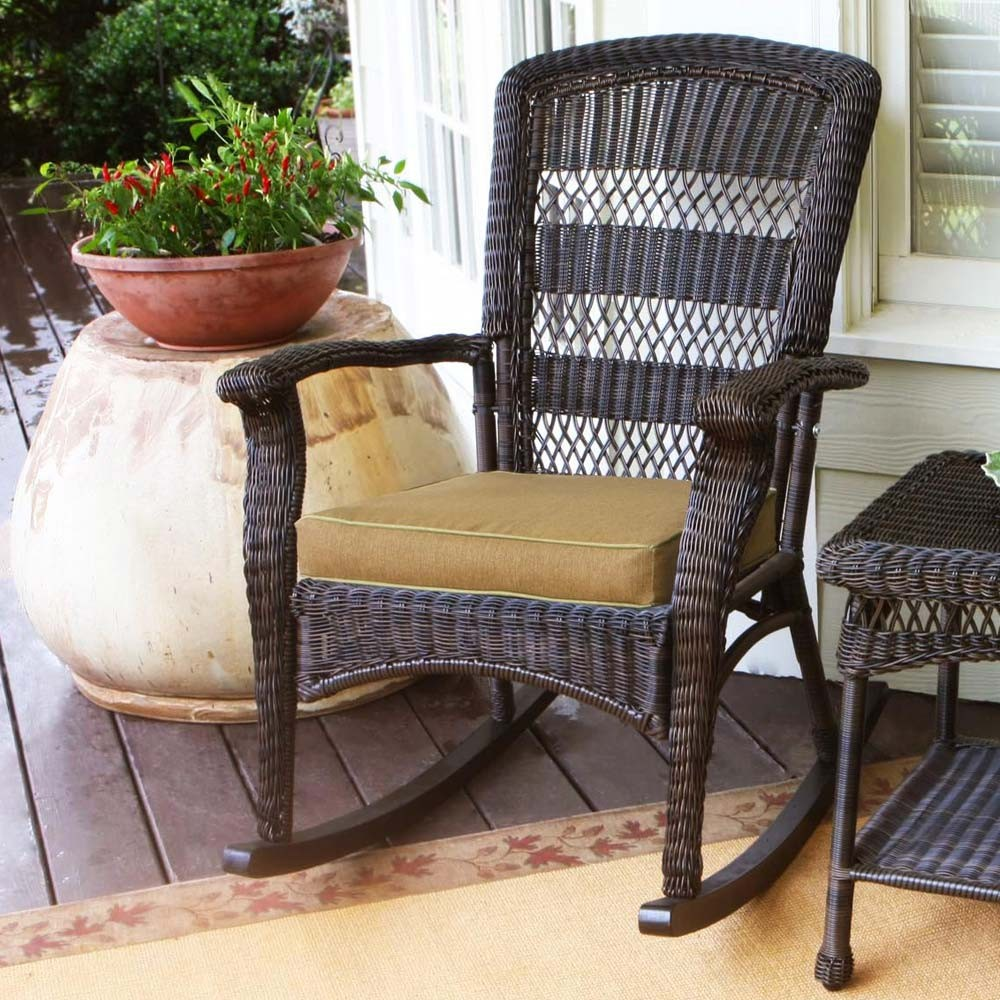 Image of: Nice Outdoor Wicker Rocking Chairs