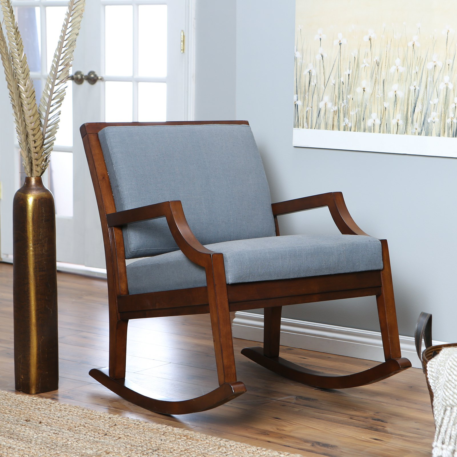 Image of: Nice Upholstered Rocking Chairs