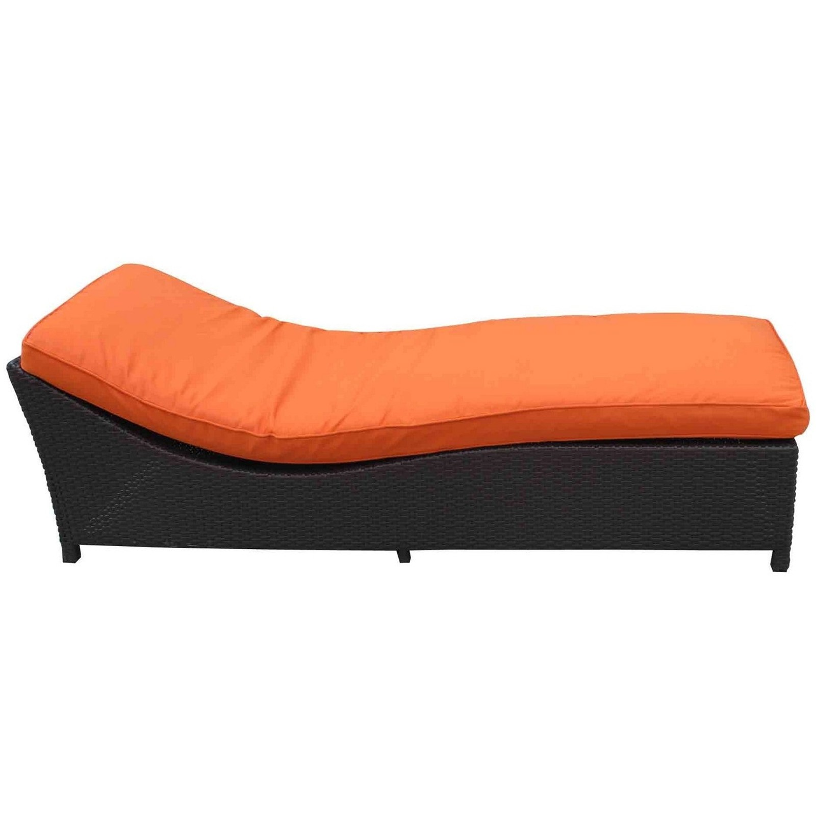 Image of: Orange Leather Chaise Lounge Chair