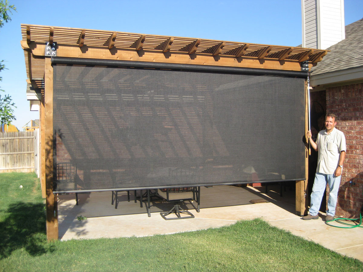 Image of: Outdoor Blinds Screen