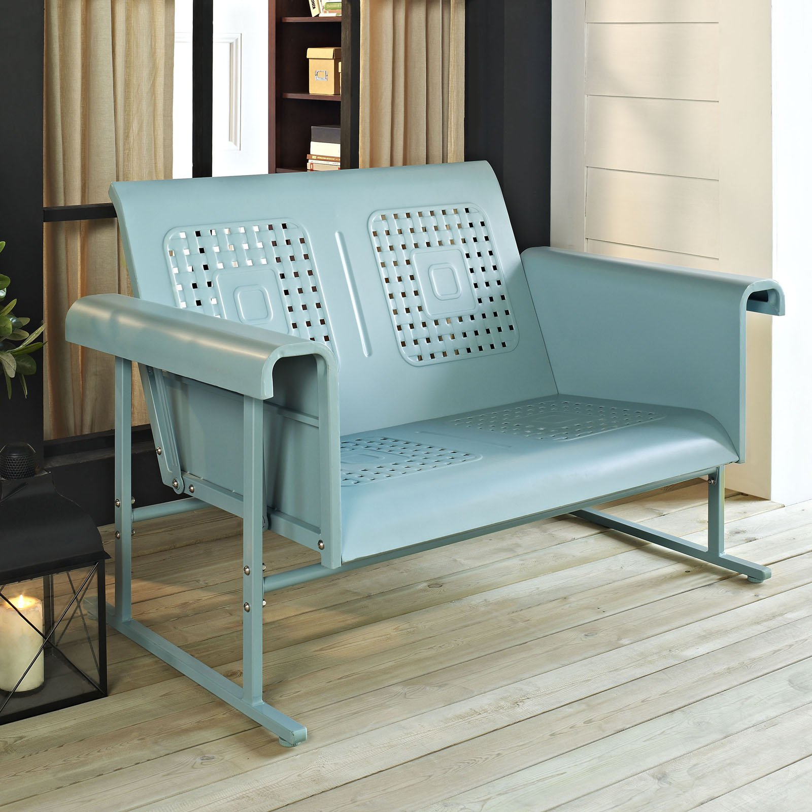 Image of: Outdoor Loveseat Glider