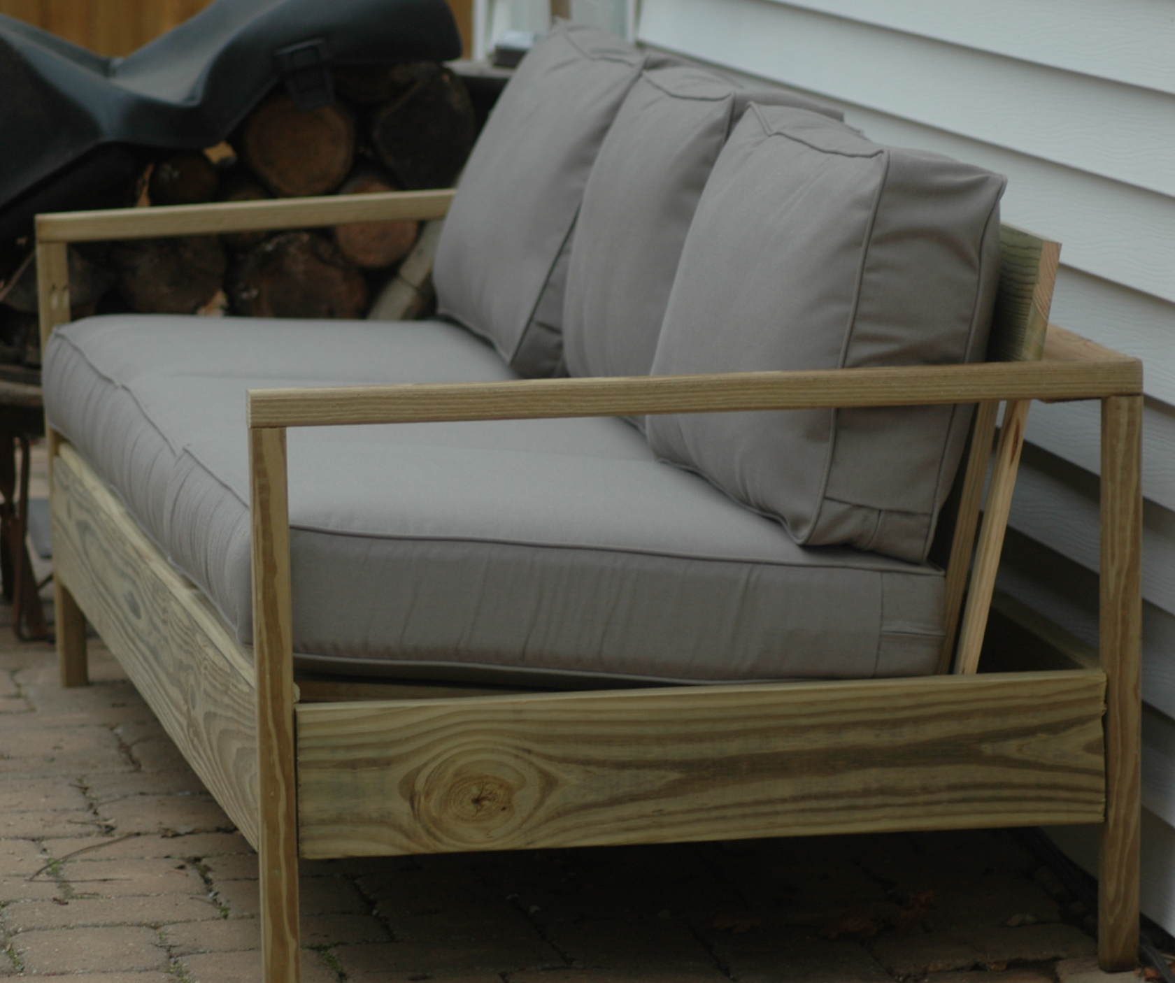 Image of: Outdoor Loveseat Plans