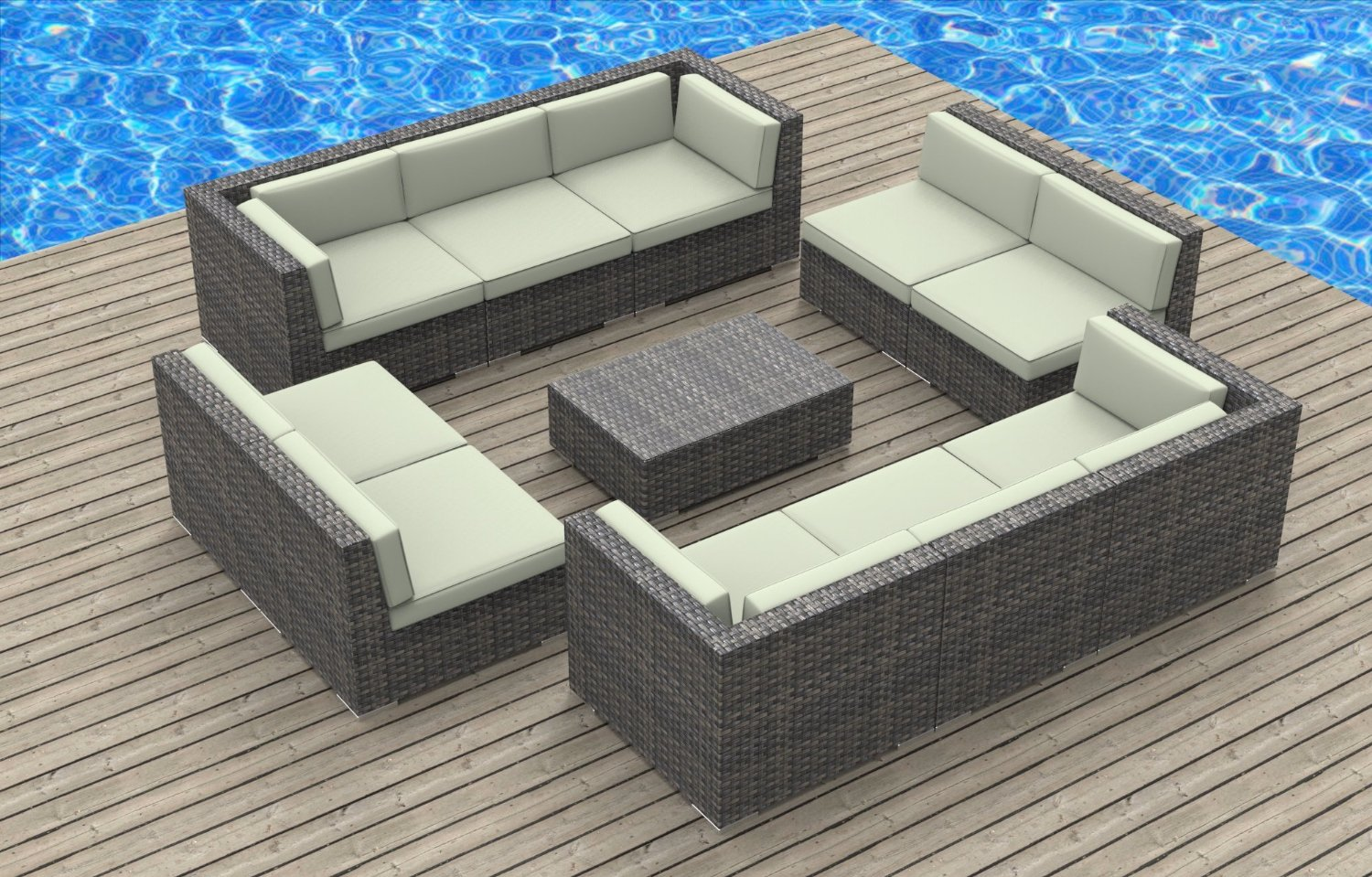 Image of: Outdoor Loveseat Wicker