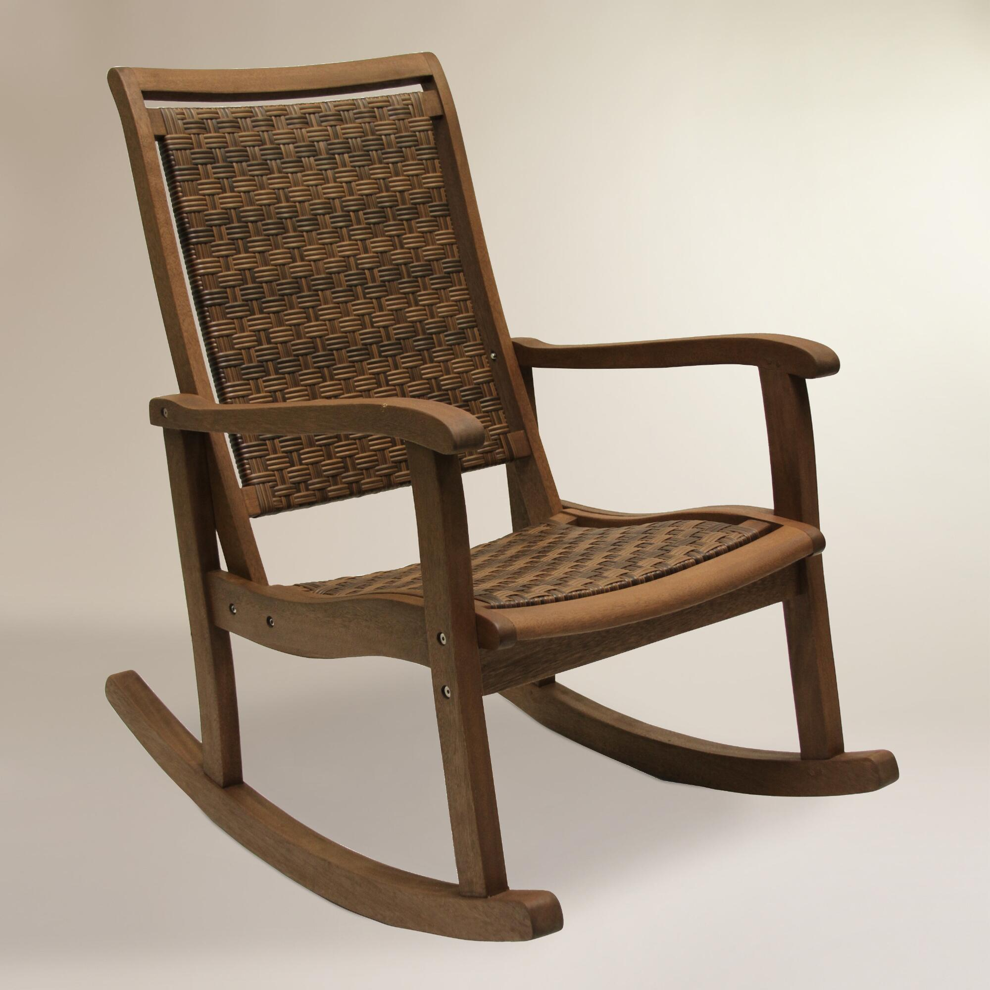 Image of: Outdoor Wicker Rocking Chairs Ideas