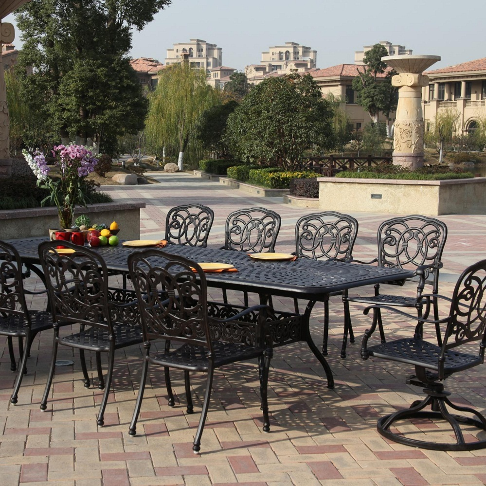 Image of: Outdoor Wrought Iron Patio Dining Set
