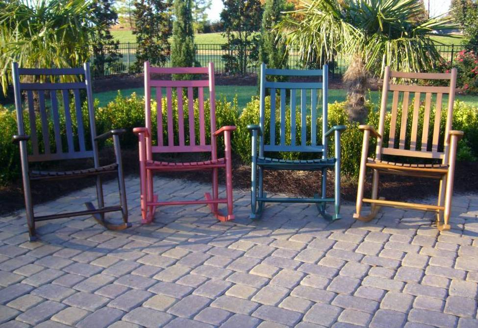 Image of: Patio Rocking Chair Color
