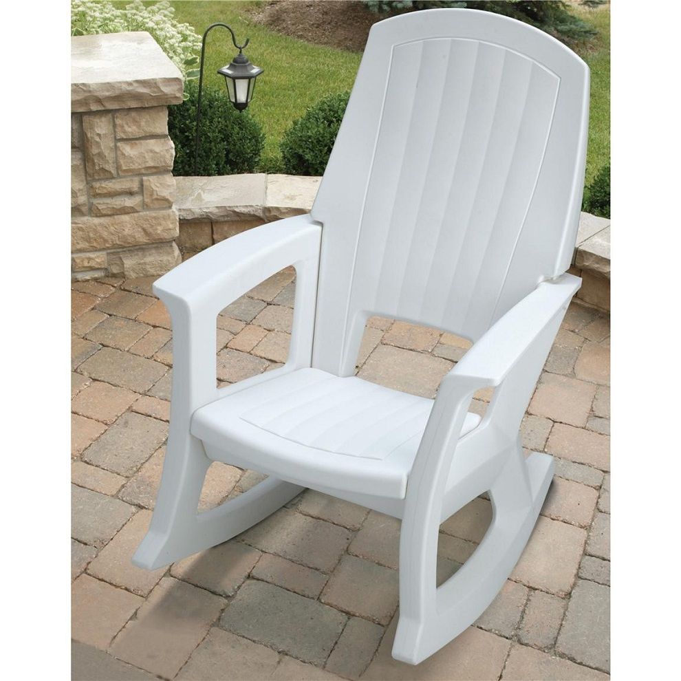 Image of: Patio Rocking Chair Plastic