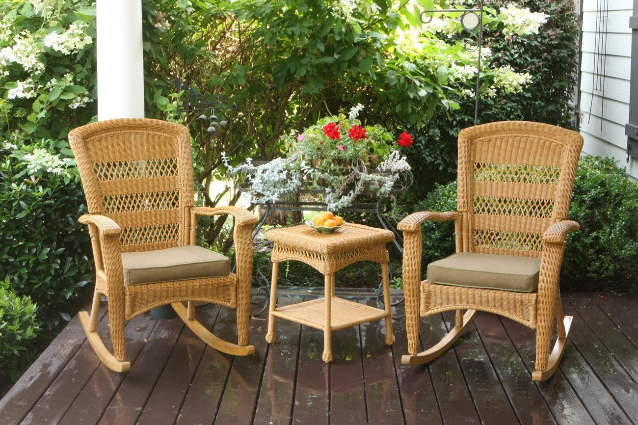 Patio Rocking Chair Set