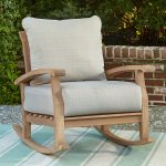 Patio Rocking Chair Teak Wood
