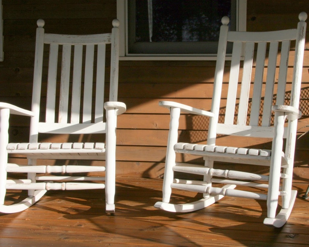 Image of: Patio Rocking Chair White