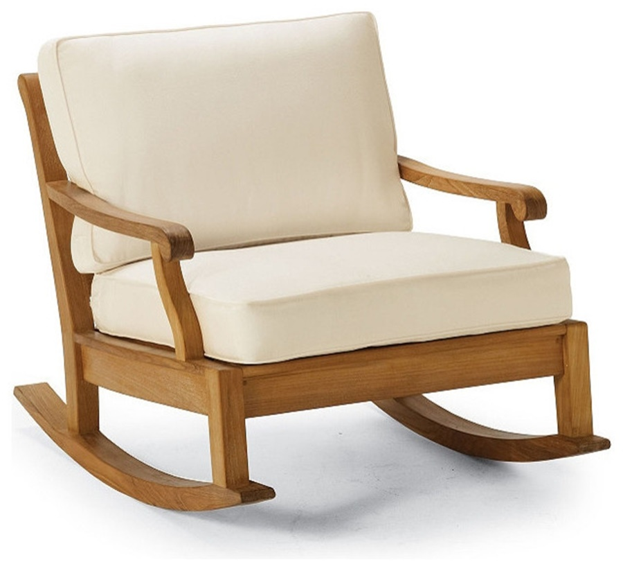 Image of: Patio Rocking Chair With Cushions