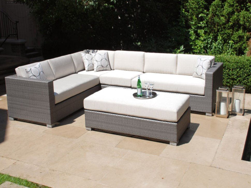 Image of: Patio Sectional Gray