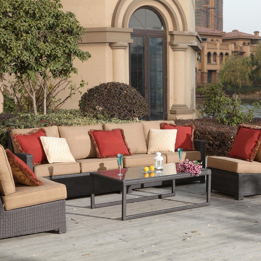 Image of: Patio Sectional Sets