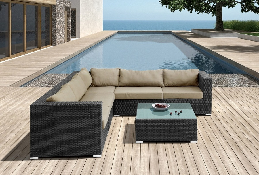 Image of: Patio Sectional Sofa