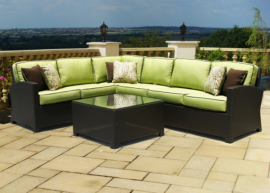 Image of: Patio Sectional Wicker
