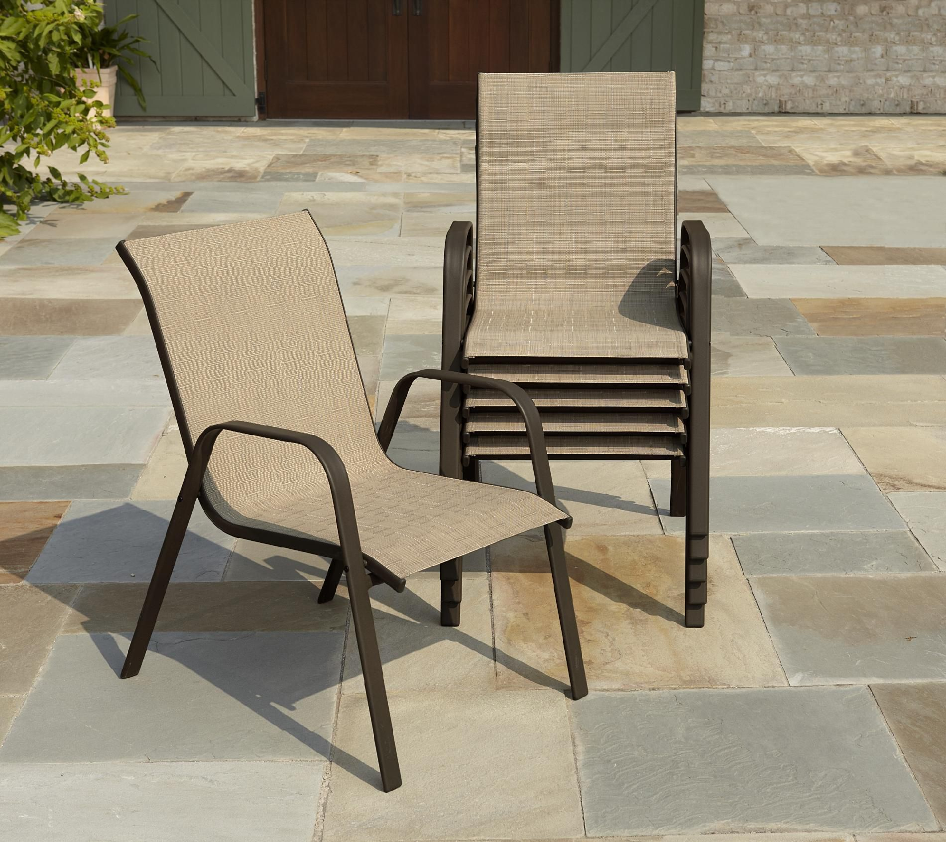 Image of: Patio Sling Chairs Photo