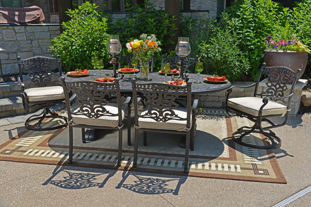 Image of: Patio Swivel Chairs Furniture