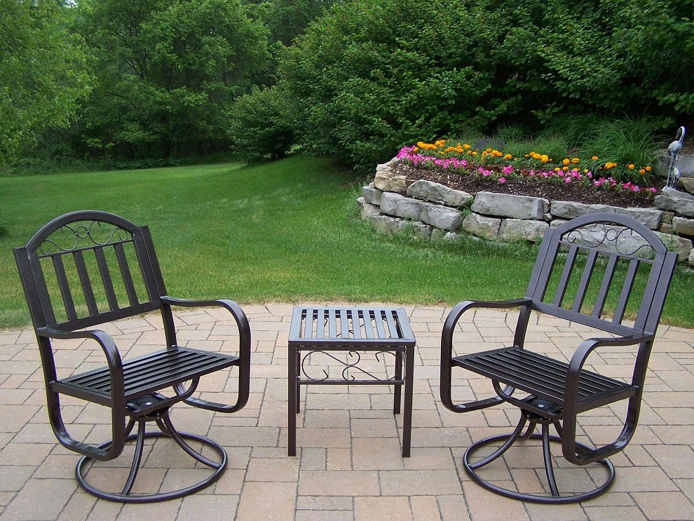 Image of: Patio Swivel Chairs Material