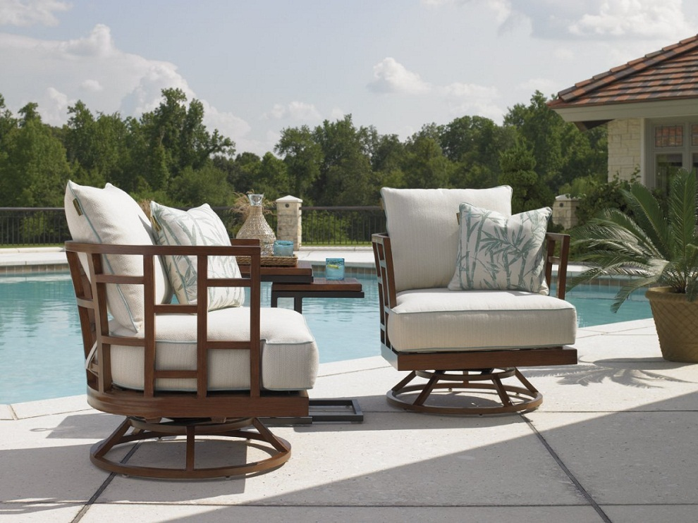 Image of: Patio Swivel Chairs Style