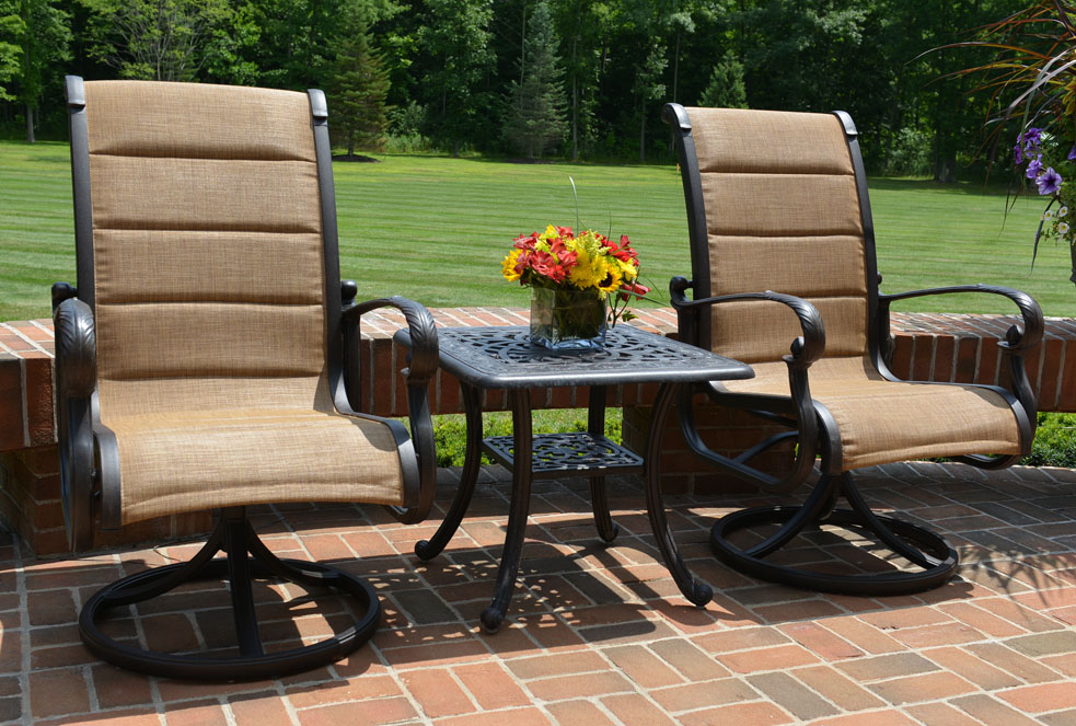 Image of: Patio Swivel Chairs wtih Arm