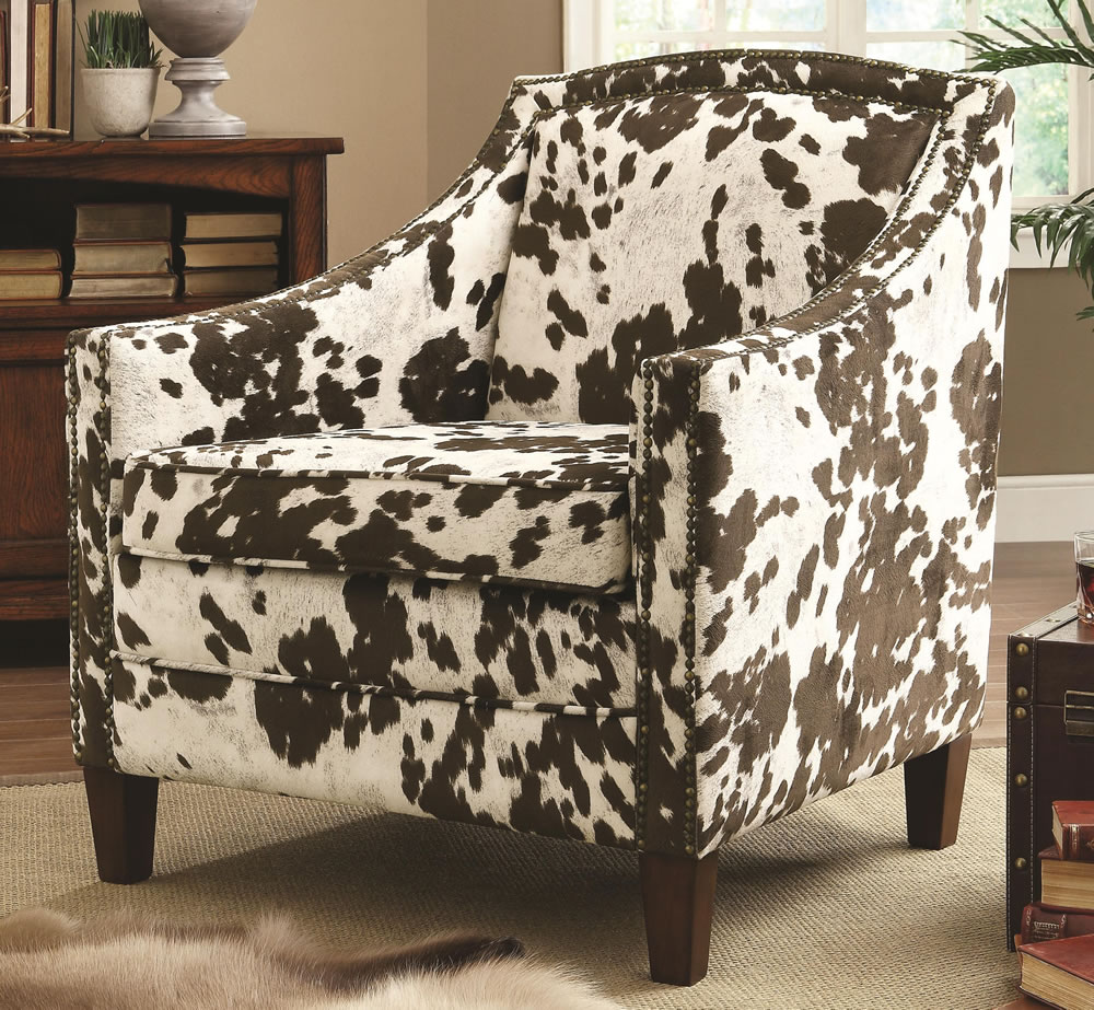 Image of: Patterned Accent Chairs Model