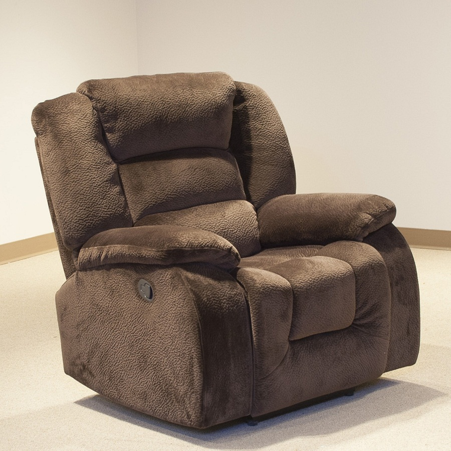 Patterned Oversized Recliner Chair