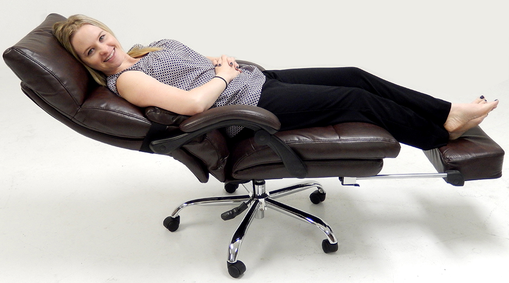 Image of: Pillow Top Reclining Desk Chair