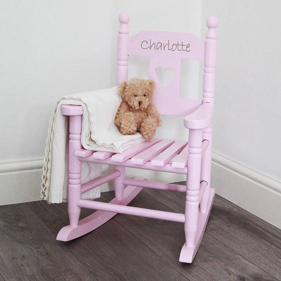 Image of: Pink Childrens Rocking Chair
