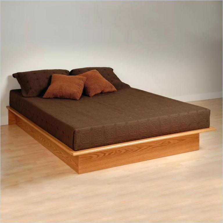Image of: Platform Bed Frame Queen Cheap