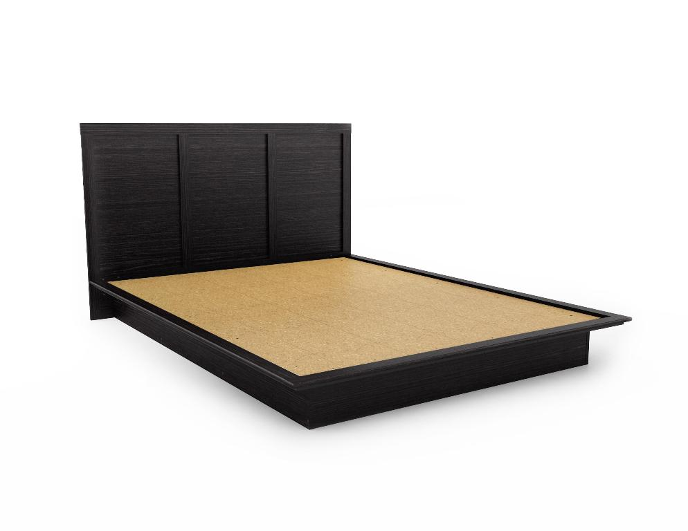 Image of: Platform Bed Frame Queen Diy