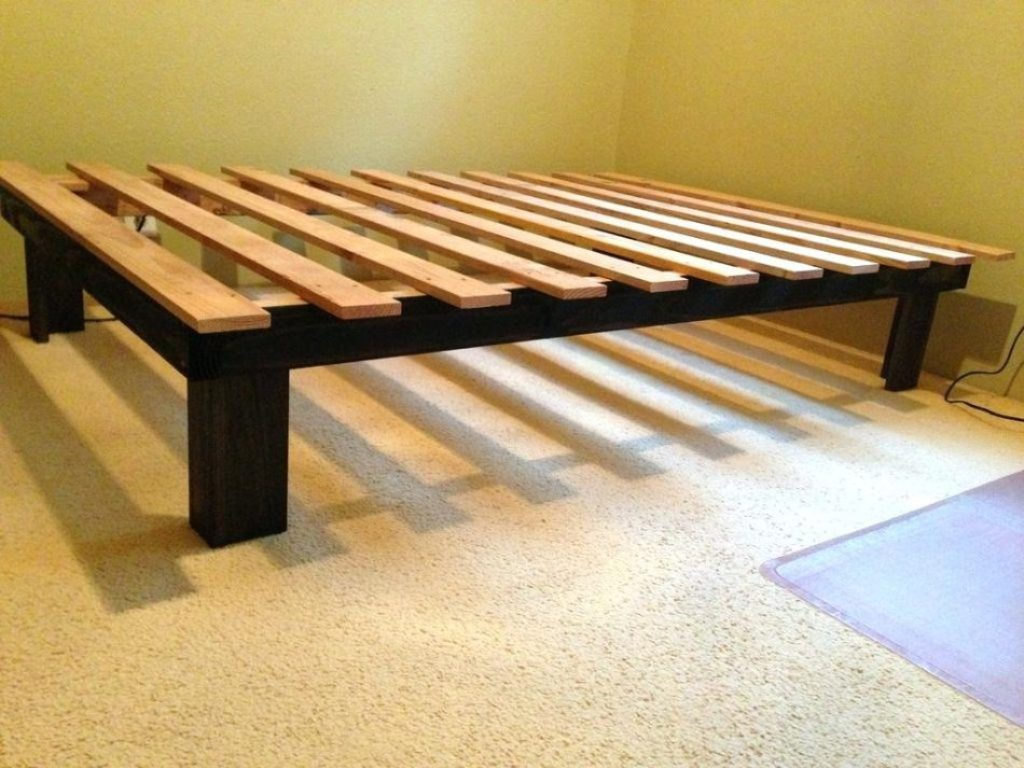 Image of: Platform Bed Frame Queen Size