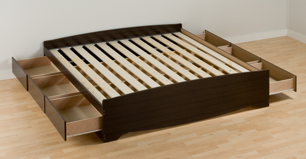 Image of: Platform Bed Queen Amazon