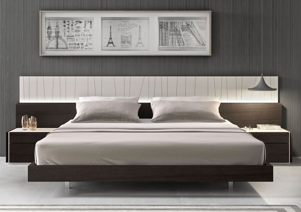Image of: Porto Modern Platform Bed with LED