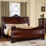 Queen bed frame rustic design