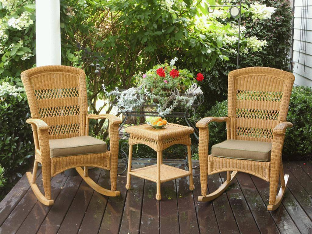 Image of: Rattan Patio Rocking Chair