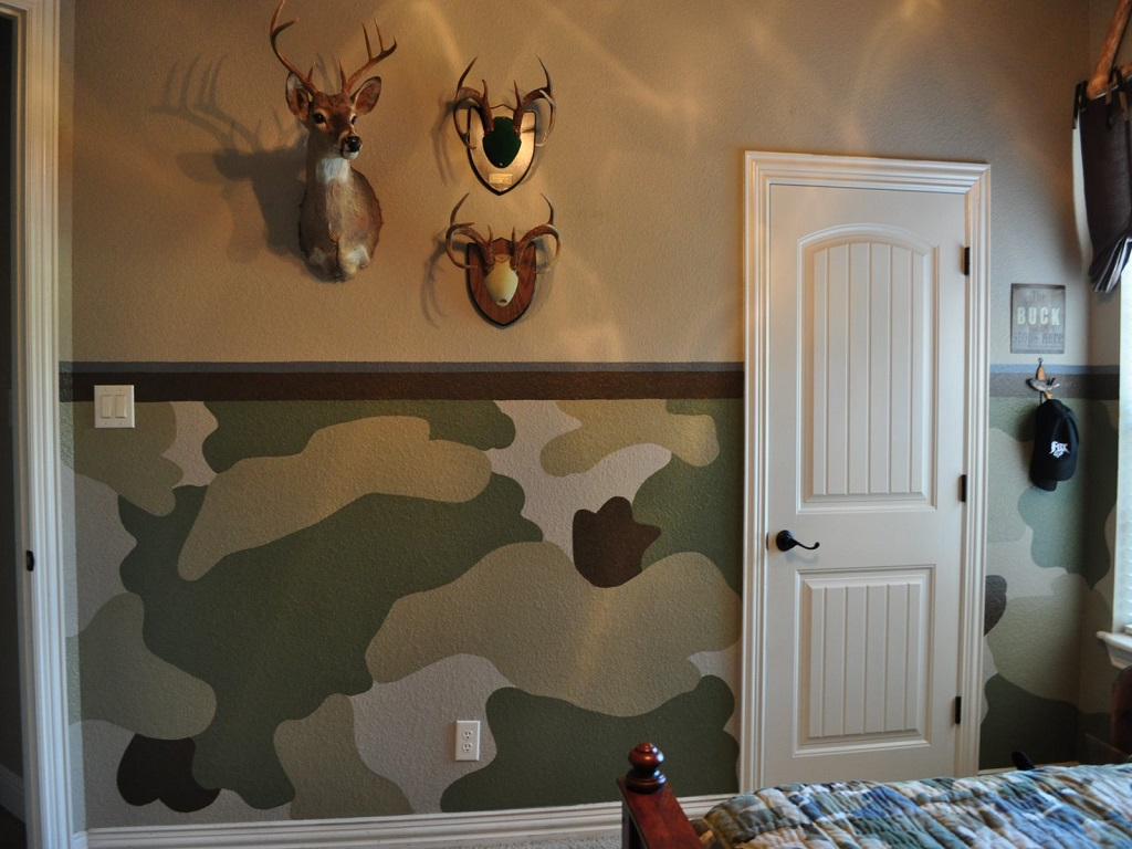 Image of: Realtree Camouflage Bedroom Ideas