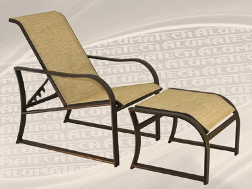 Reclining Patio Chair with Ottoman