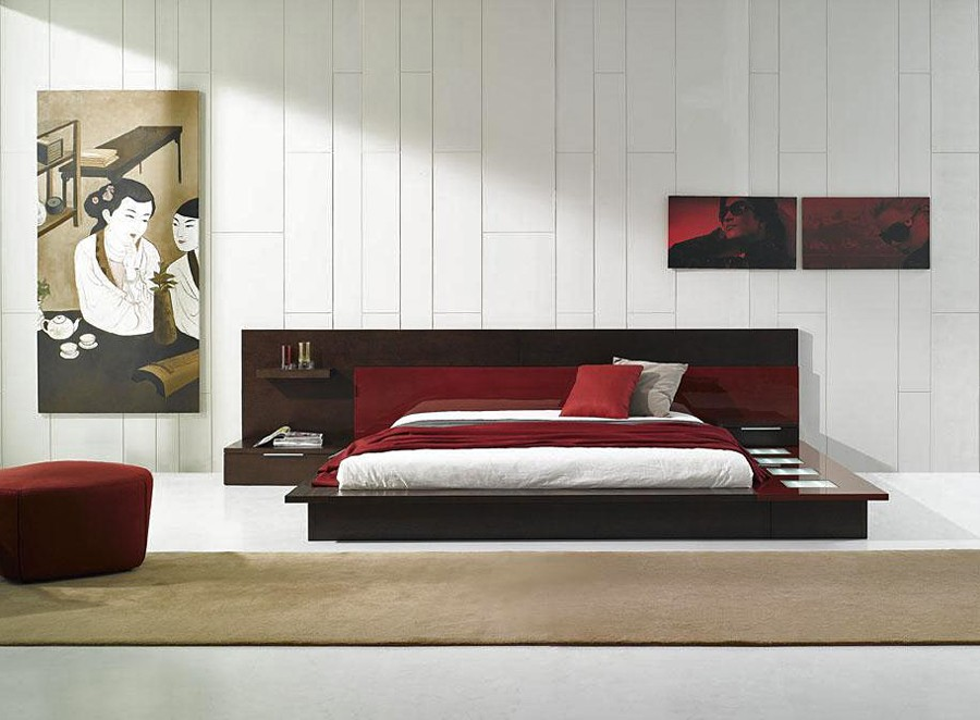 Image of: Rimini Modern Platform Bed