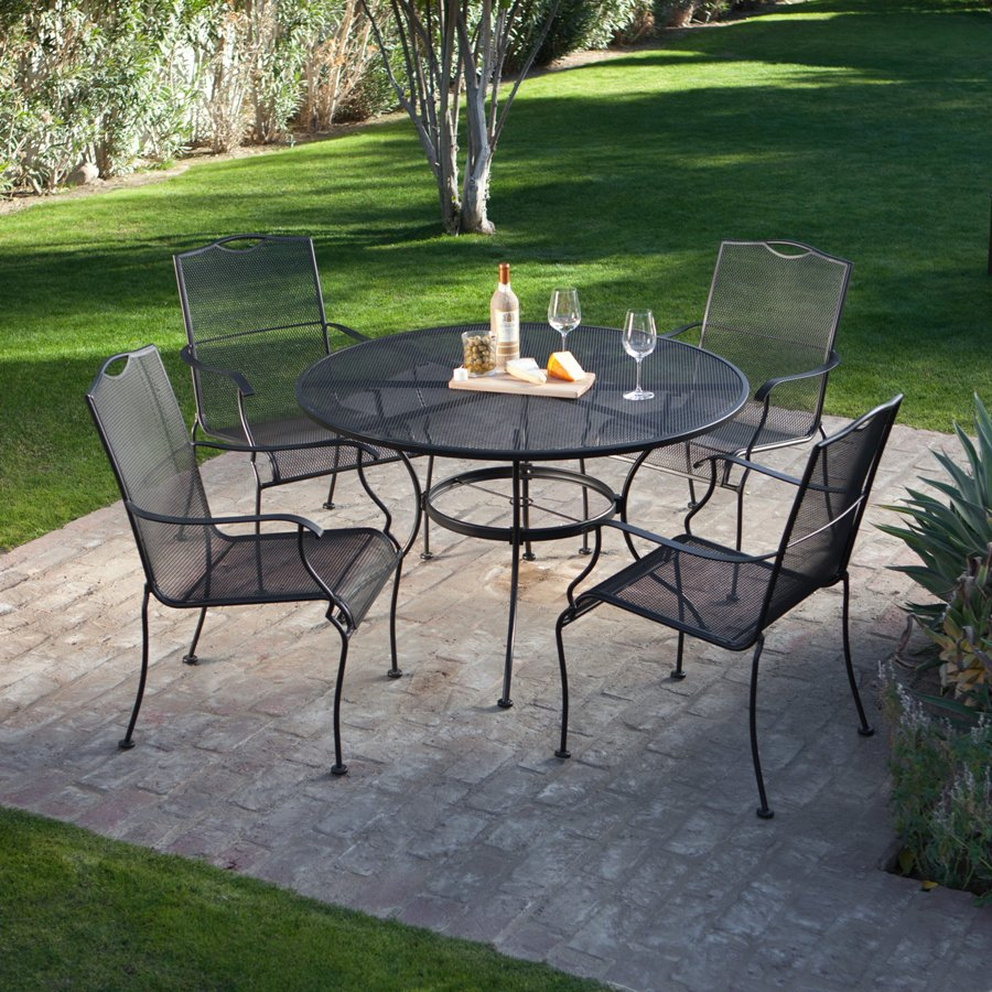 Image of: Rod Iron Patio Furniture Pictures