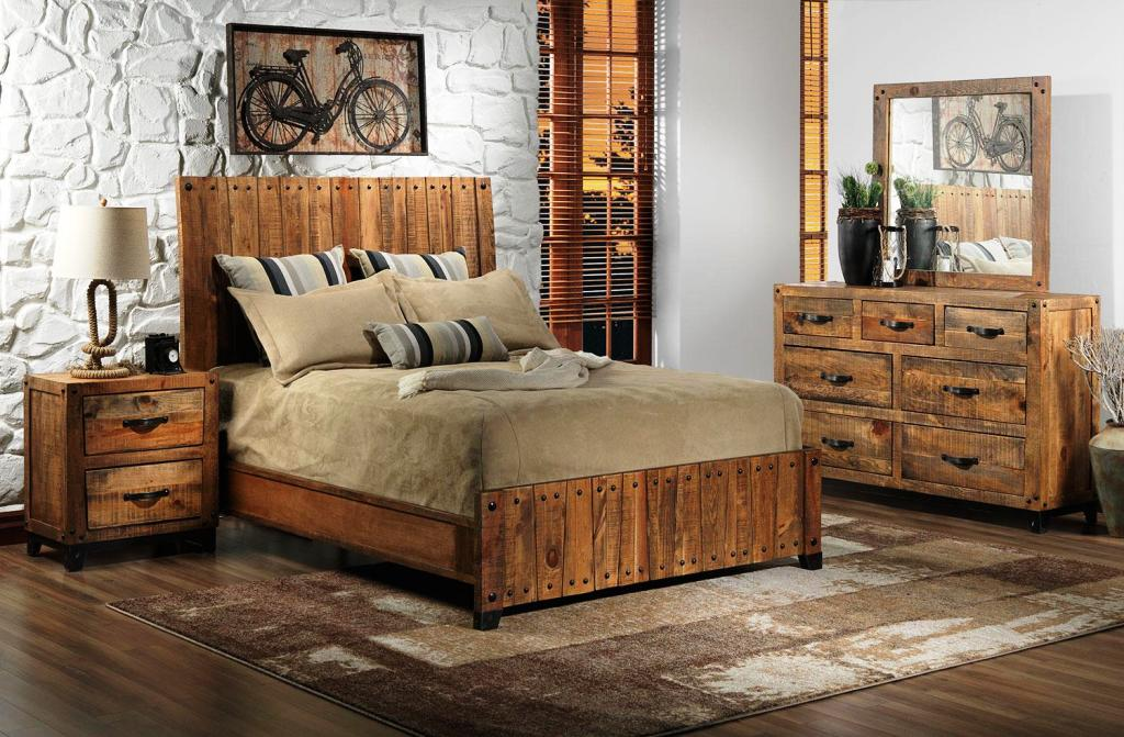 Image of: Rustic California King Bedroom Furniture