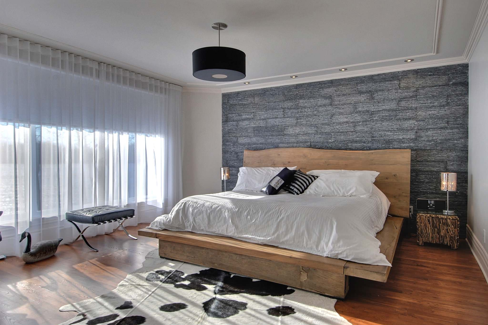 Image of: Rustic Contemporary Bedroom Decors